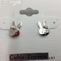 Zirconia Bunny Earring
