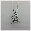 Alphabet Letter Pendant (m) A-0