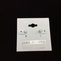 Zirconia Stud Earring