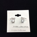 Cubic Zirconia Owl Earring