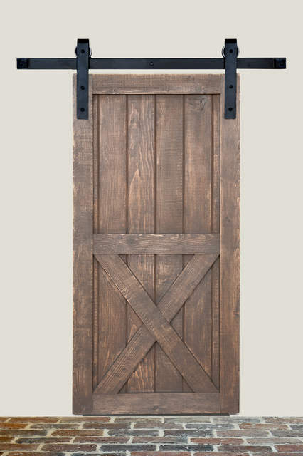 Flatec II Top Hung Barn Door Hardware Set By Hafele