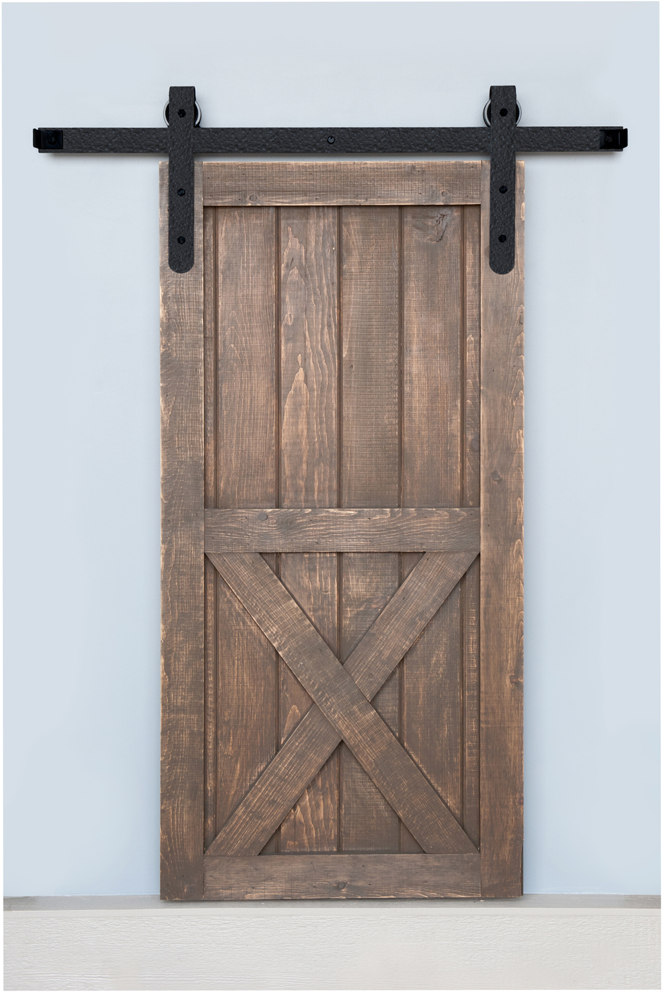 Acorn : Products : 5' Sliding Barn Door Hardware - Round End Rough ...