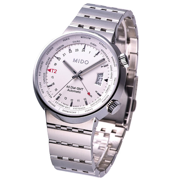 MIDO All Dial GMT Automatic Swiss Watch White M83504111