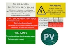 New AC Solar label kits