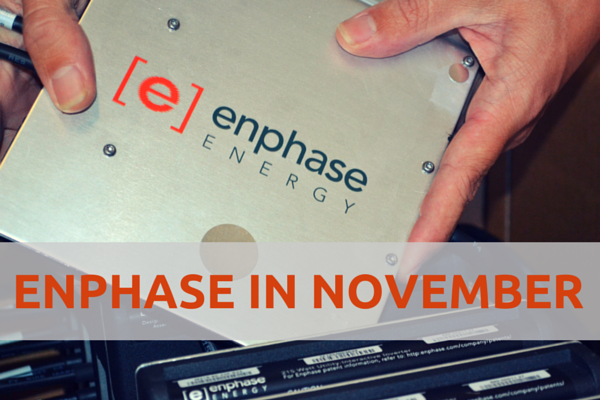 Buy Enphase in November and save!
