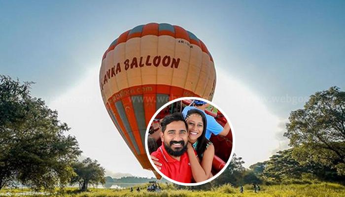 Hot Air Balloon එකක ගිය Husband & wife ගත්ත ආතල් එක