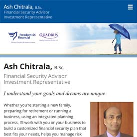Ash Chitrala - Toronto Ontario  - Freedom 55 Financial