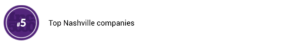top5 nashville companies