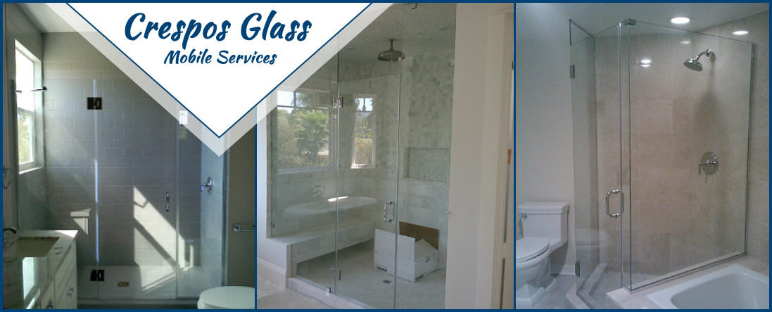 Crespos Glass Mobile Services Installs Shower Doors in Lancaster, CA