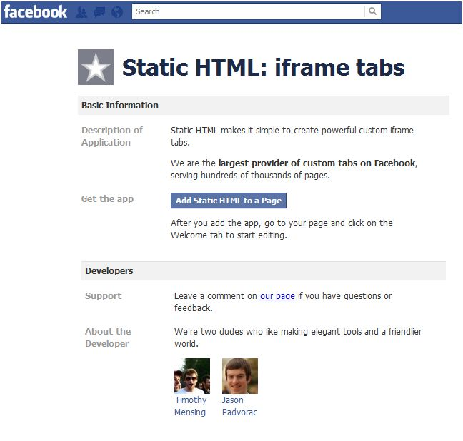 apps static html
