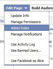 facebook admin roles - edit