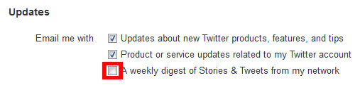 twitter email opt out