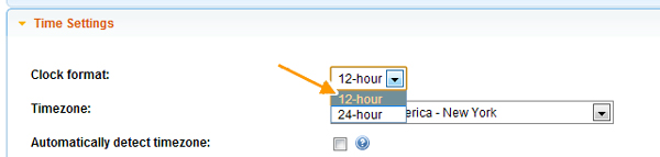 setting clock preferences