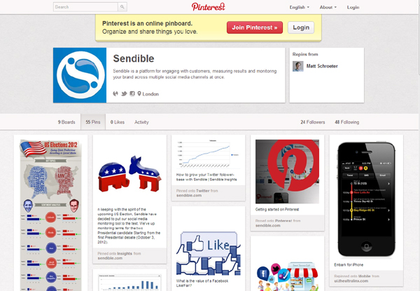 Sendible on pinterest