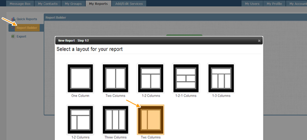 select report layout