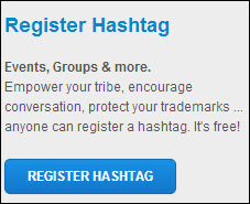 Register your hashtag