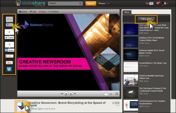 slide presentation content