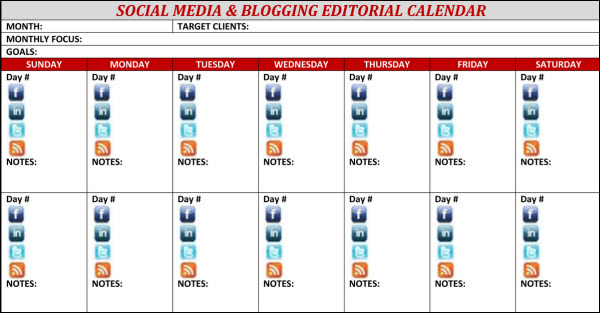 Editorial Calendar Ad Publishing