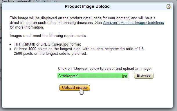 upload product image