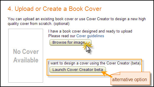 upload book cover