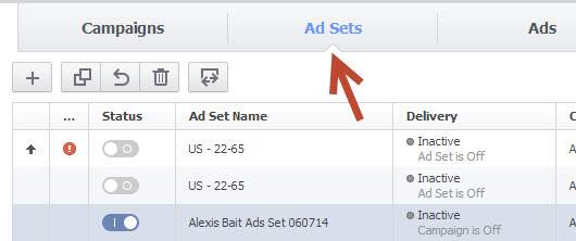 Facebook Ad Sets