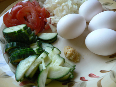 ingredients for Thai fried rice