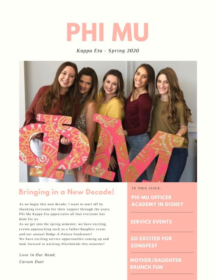 Spring Newsletter 2020