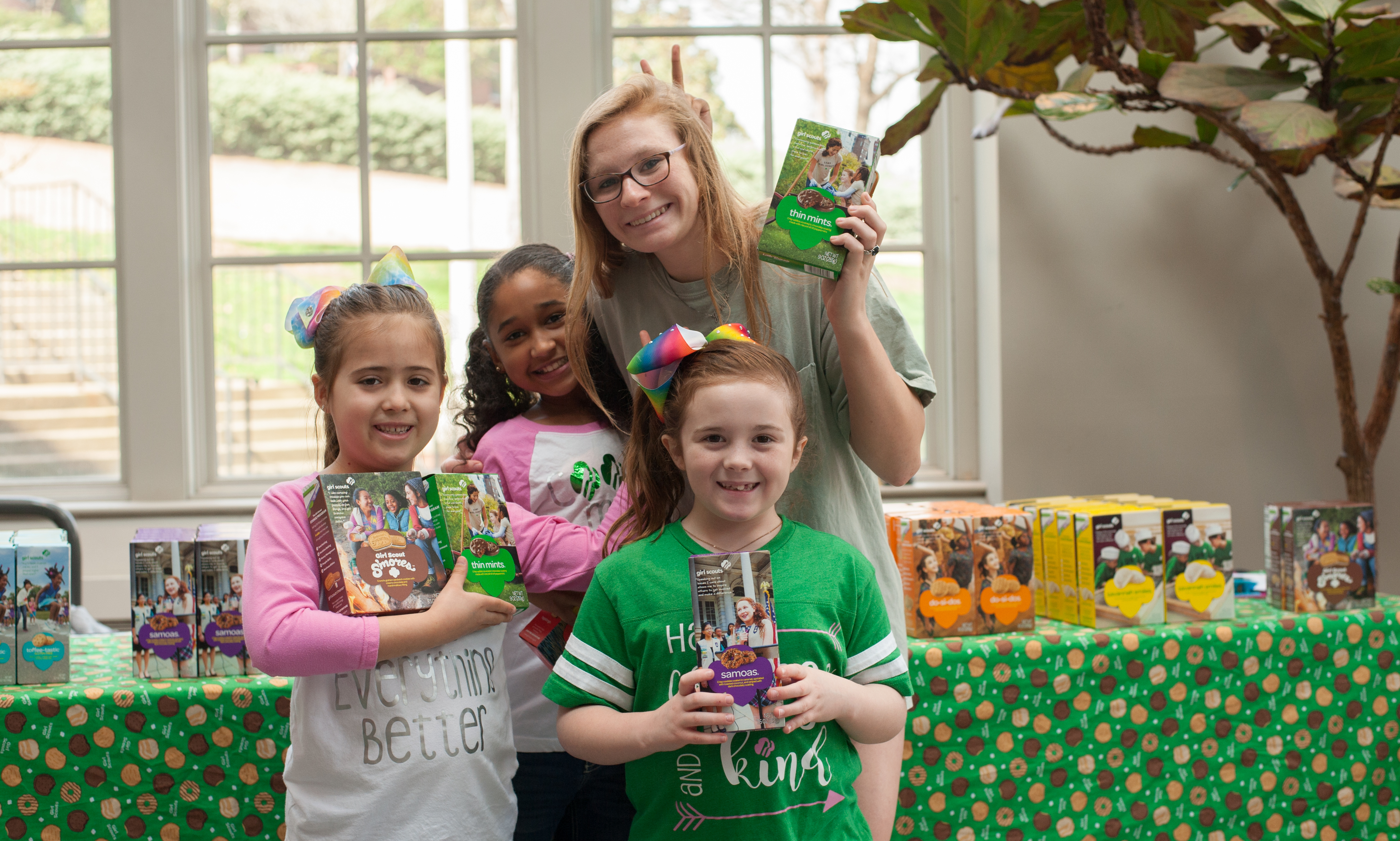 Girl Scout cookie sales- spring 2018