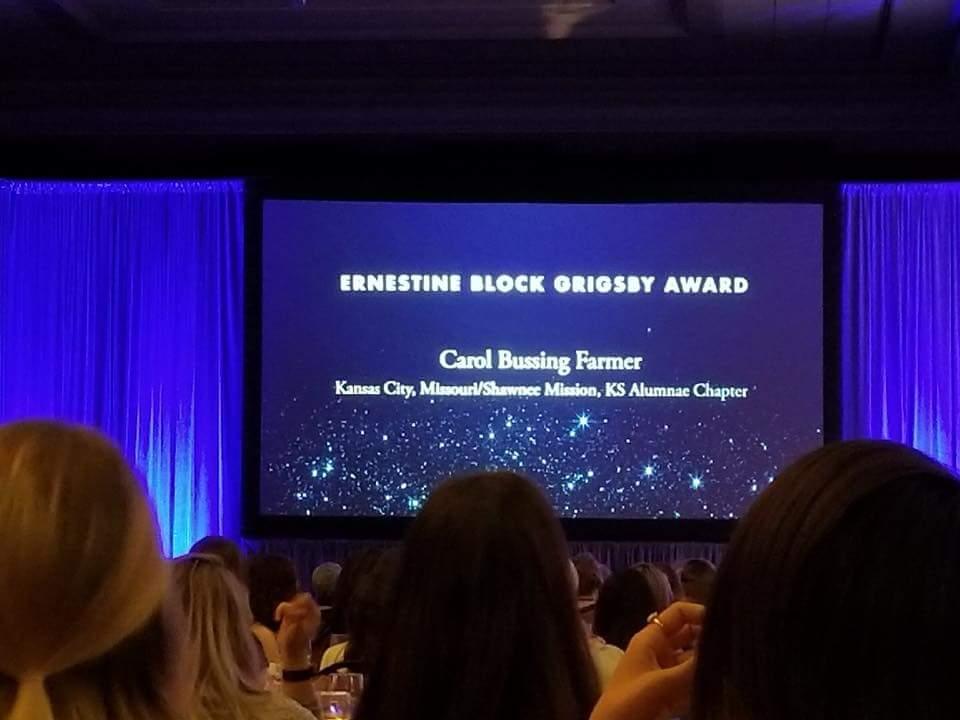 Congratulations, Carol Farmer!