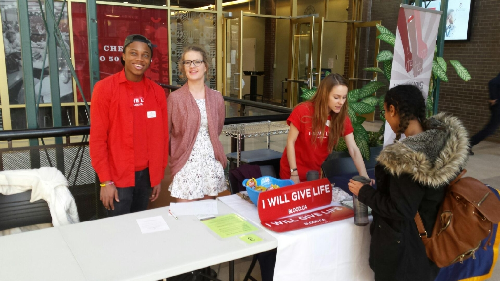 Canadian Blood Services Information Table January 19, 2017