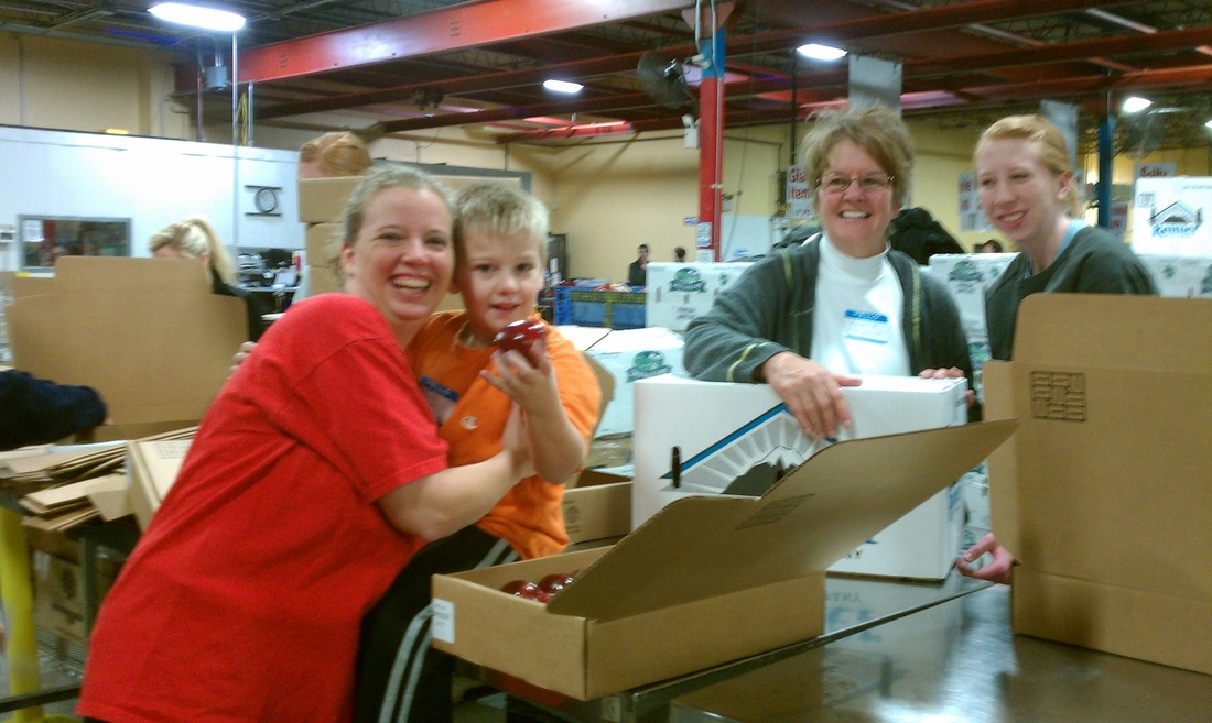 Volunteering at Harvester's January 12, 2013