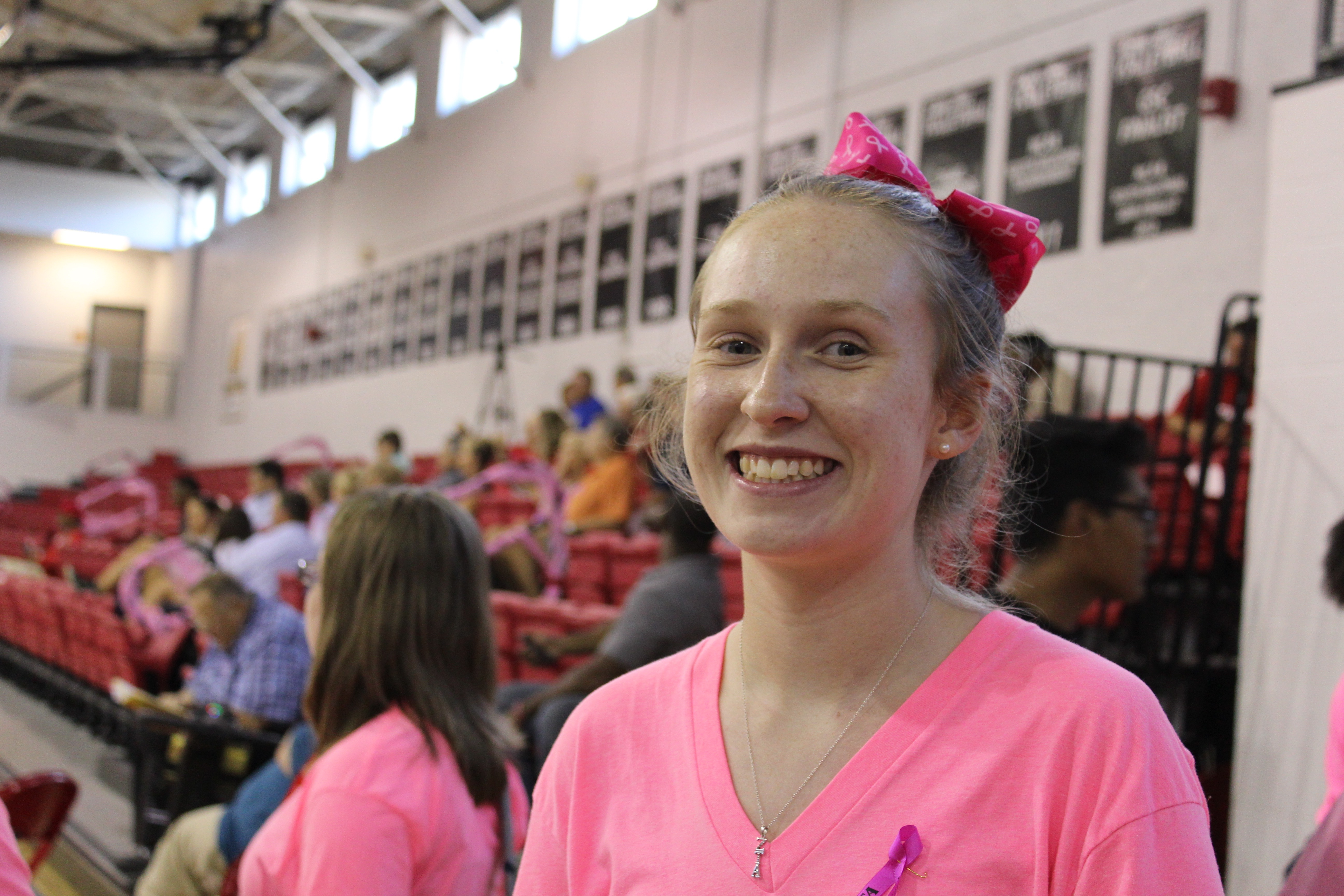 Pink Out Volleyball Game 2016
