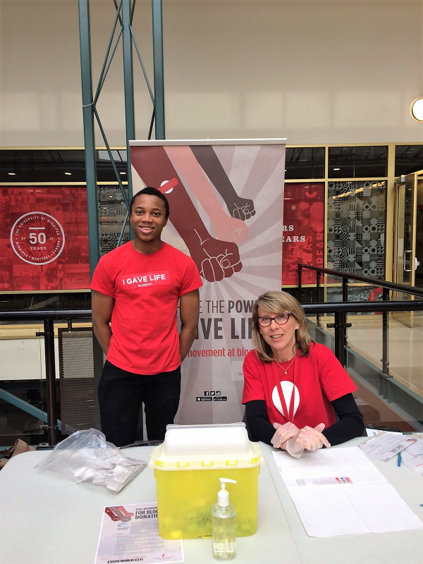 Canadian Blood Services Blood Typing TAble March 23, 2017