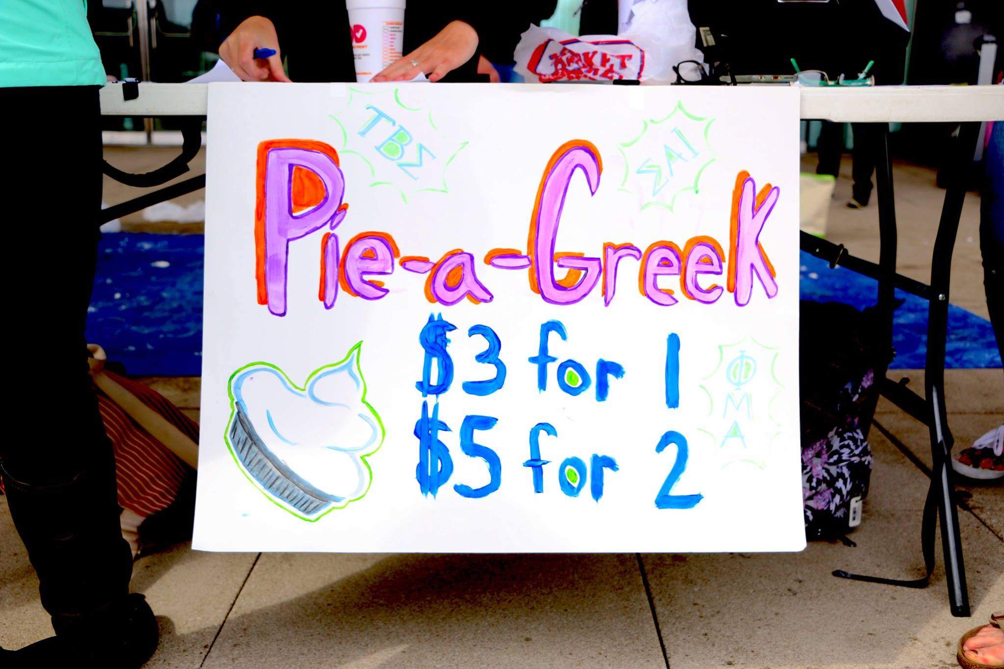 Pie-a-Greek Fundraiser - April 2, 2016