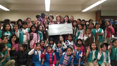 2014 Girl Scout Check Presentation