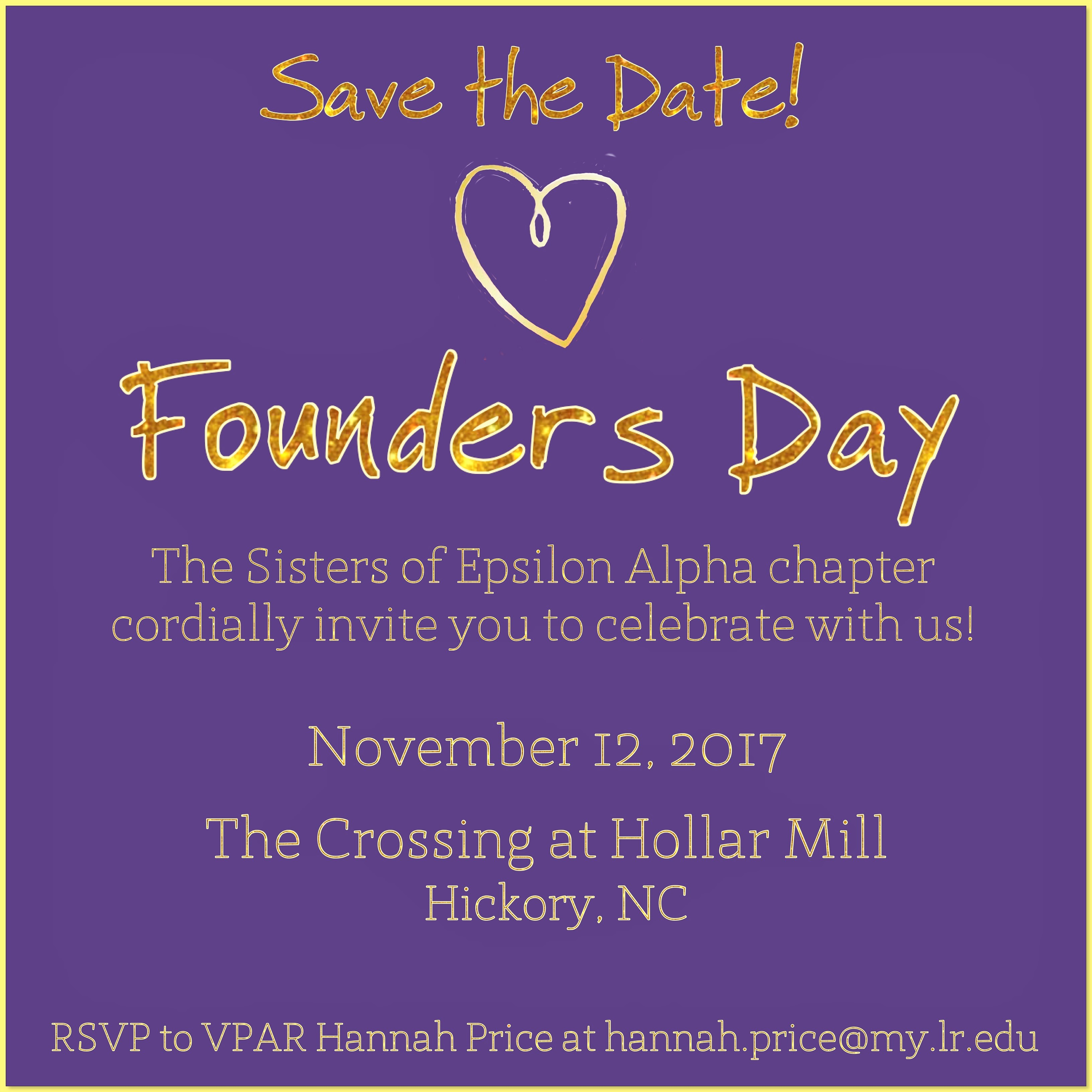 2017 Founders Day Celebration with UNCC's chapter!