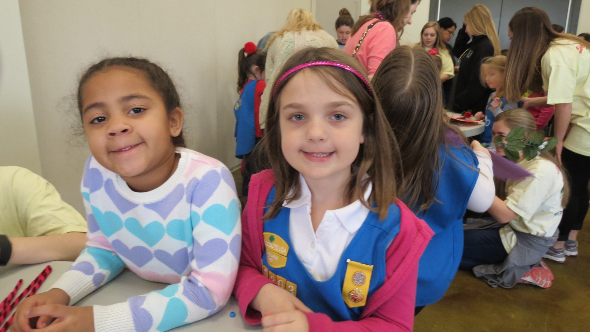 Valentine's Girl Scout Event 2016