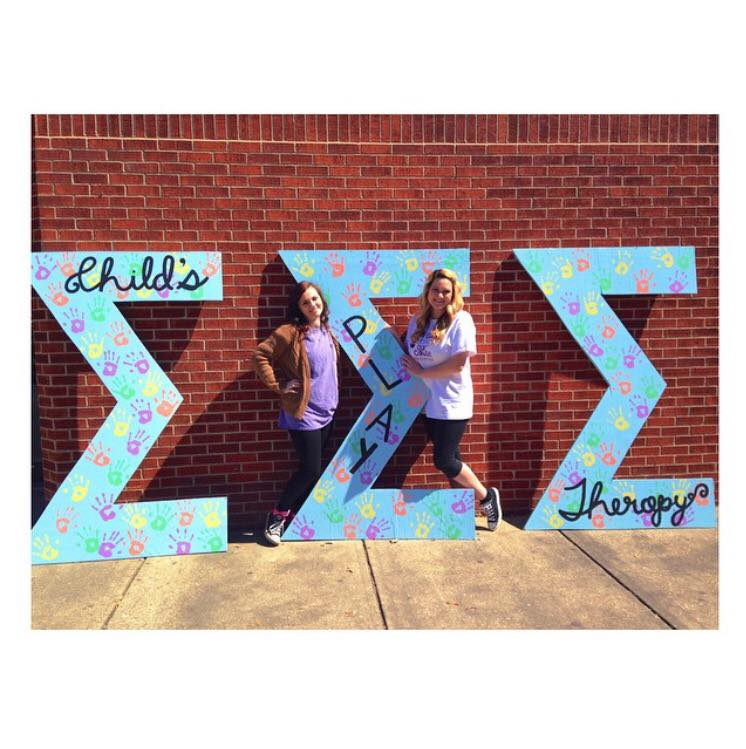 Tri Sigma's out and about