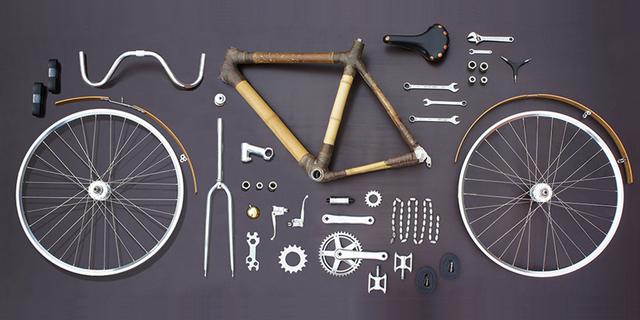 Bisikleti yapmak için gerekli parçalar, alet, edevat