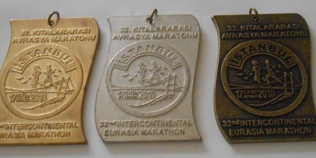 Katılım rekoru kırılan 2010 yılı madalyaları