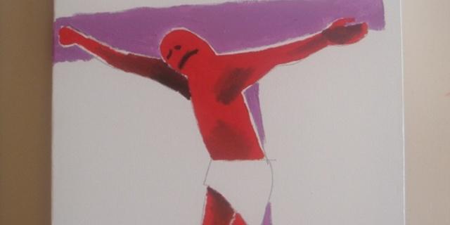 Çocukken yaptığı resimlerden biri