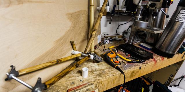 Bambu bisiklet atölyesi