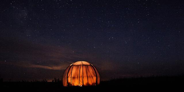 Kamp için küçücük bir çadır yeterli