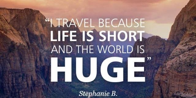 Seyahat ediyorum çünkü...
