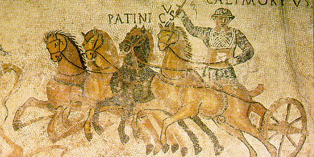 Roma mozaiklerinde at arabası yarışları