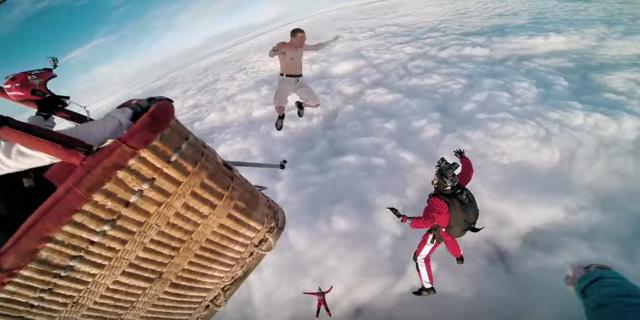 Paraşütsüz skydiving yapan adam: Antti Pendikainen