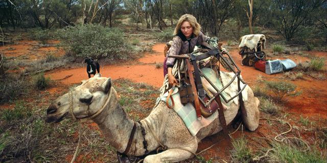 Robyn Davidson yolculukta ona eşlik edecek develerle