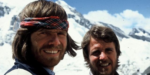 Messner ile Habeler, tarihi Everest tırmanışı sırasında (1978)