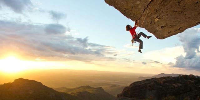 Eh, dağcılık biraz tehlikeli tabii!