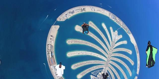 Pamiye Adası üzerinde wingsuit'li skydive
